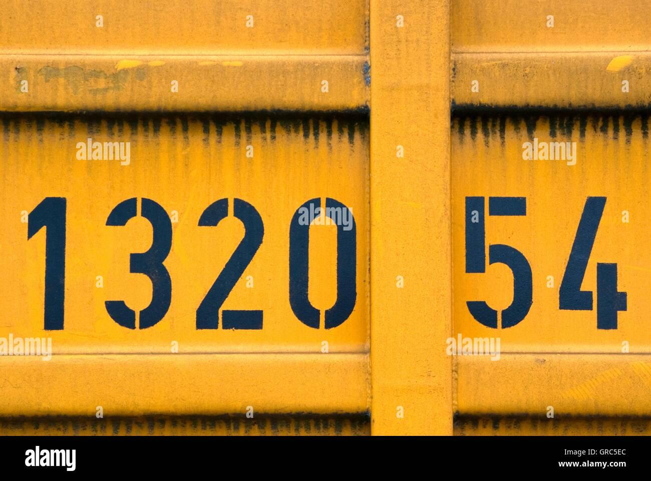 Hamburger Container detaillierte numerische Code Stockbild