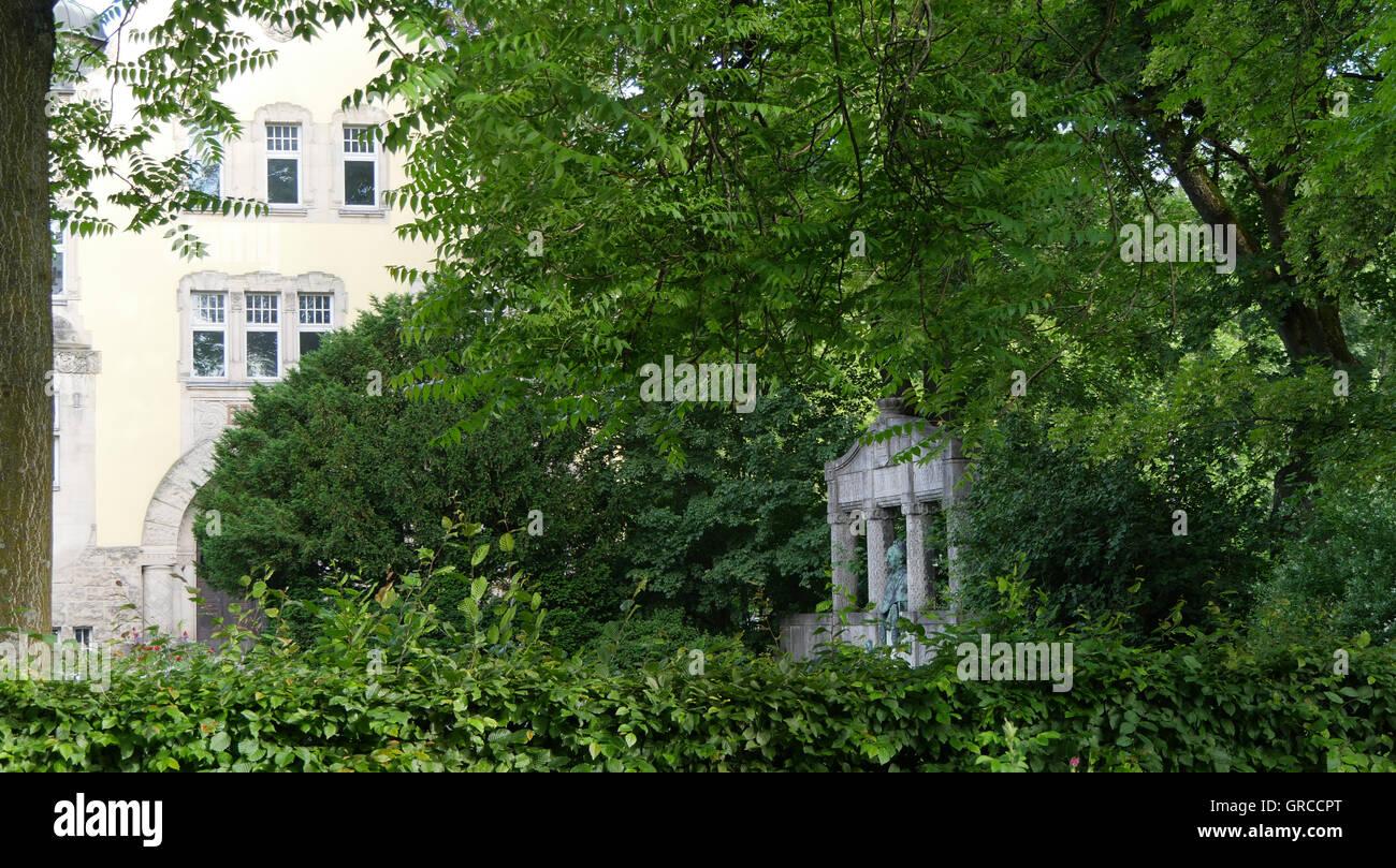Nostalgische Alexandrinenbad In Coburg Stockbild