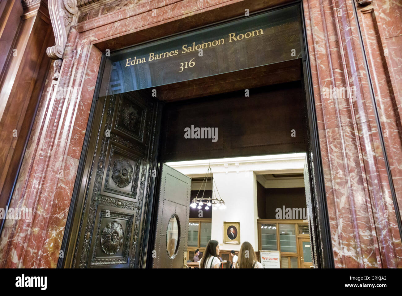 Manhattan New York City NYC New York Midtown New York Public Library Zweig Stephen Schwarzman Hauptgebäude Stockbild