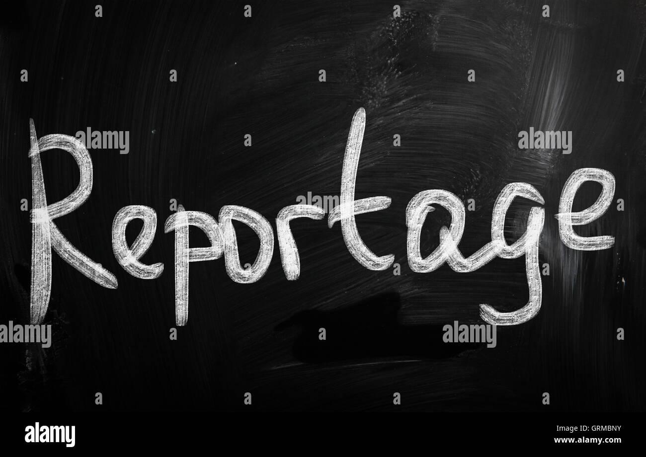 Reportage Stockbild