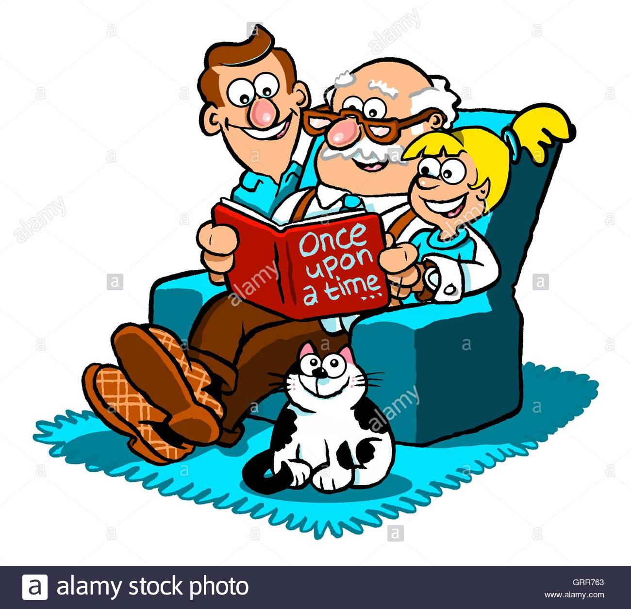 cartoon grandfather stockfotos cartoon grandfather bilder alamy. Black Bedroom Furniture Sets. Home Design Ideas