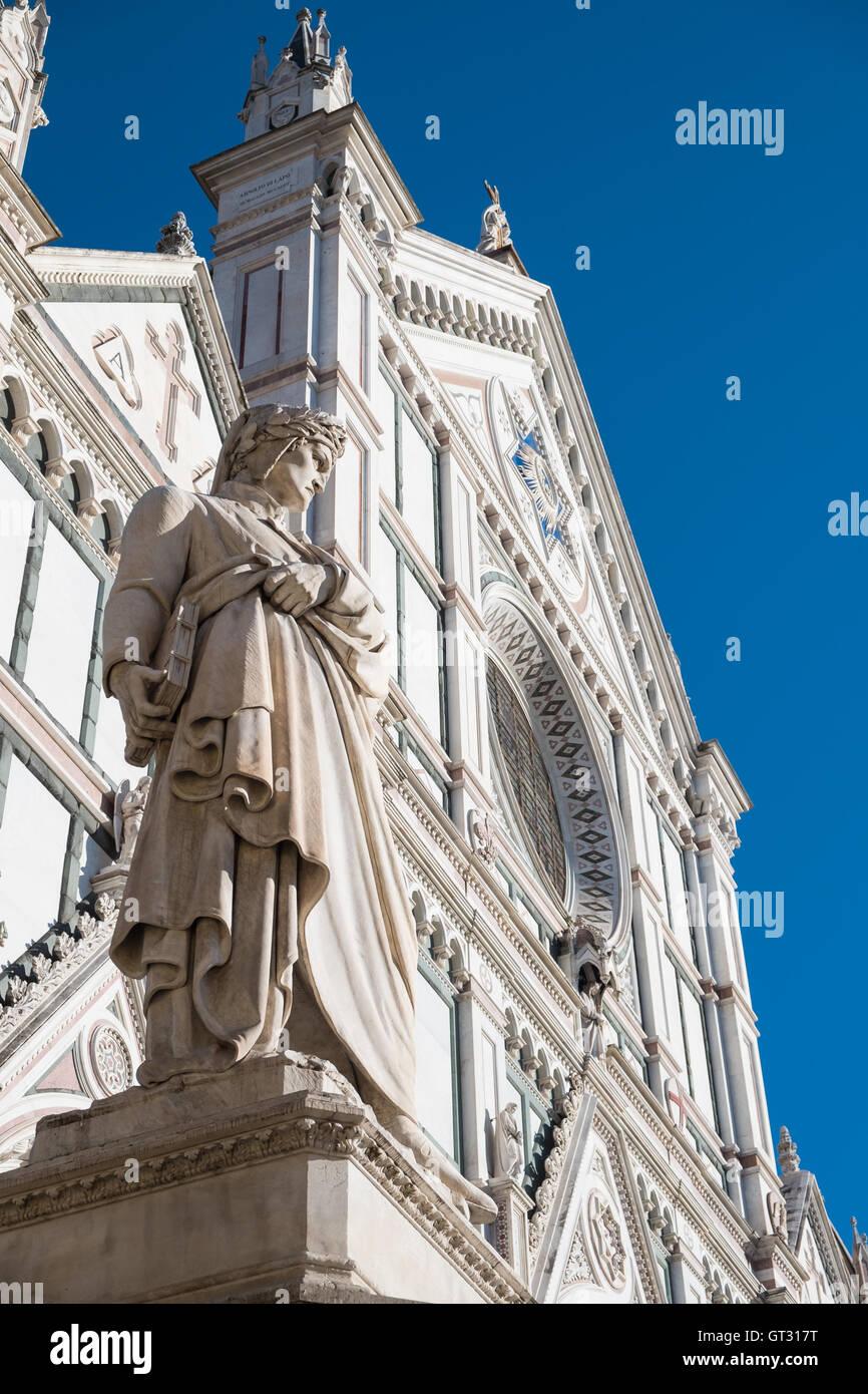 Die Basilica di Santa Croce (Basilika des Heiligen Kreuzes) ist die wichtigste Franziskanerkirche in Florenz, Italien, Stockbild