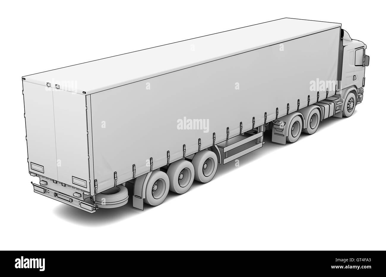 Skizze weißen LKW Stockfoto, Bild: 118113803 - Alamy