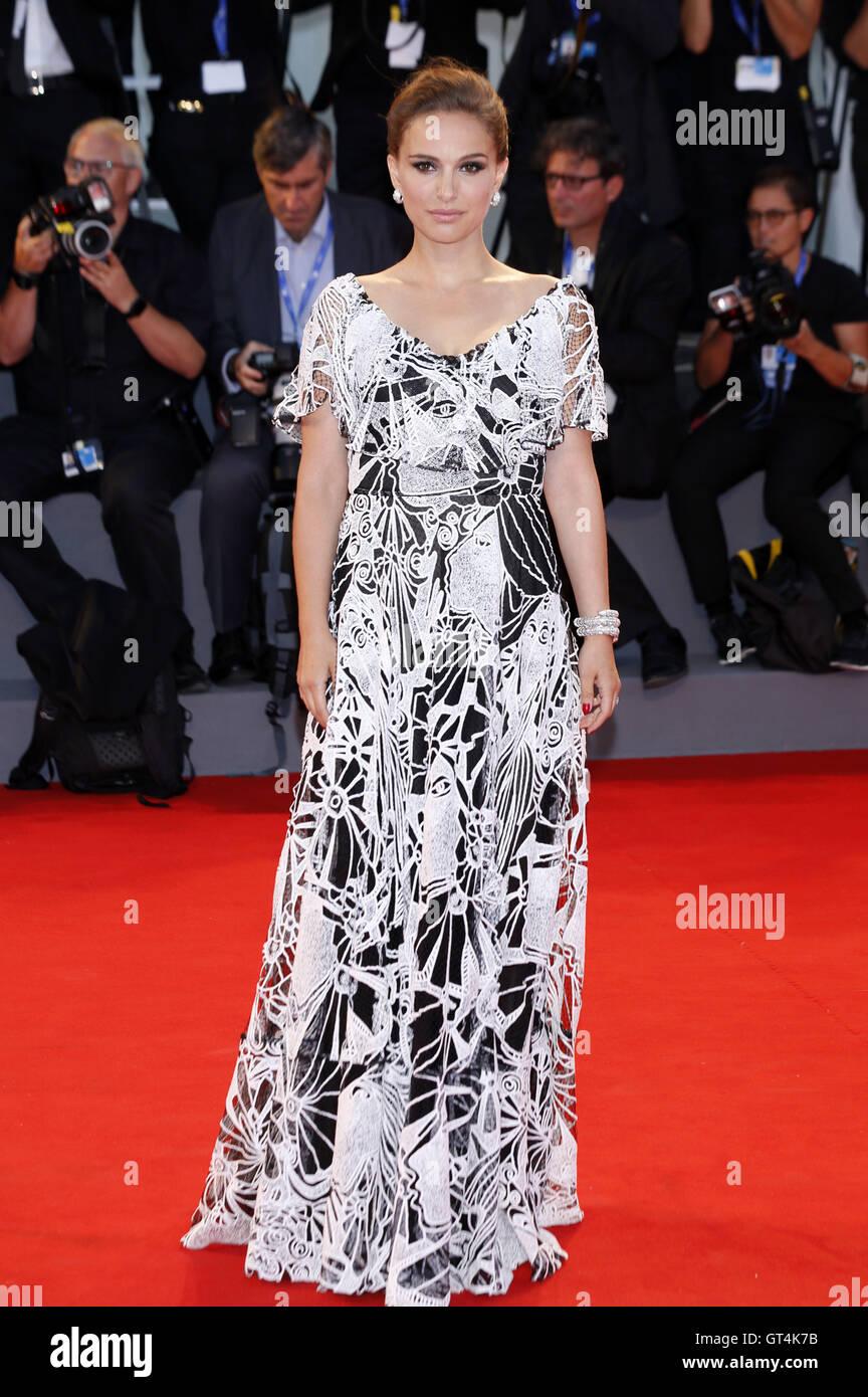 """Venedig, Italien. 07. Sep, 2016. Natalie Portman Teilnahme an der """"Jackie"""" premiere auf der 73. Venice International Stockfoto"""