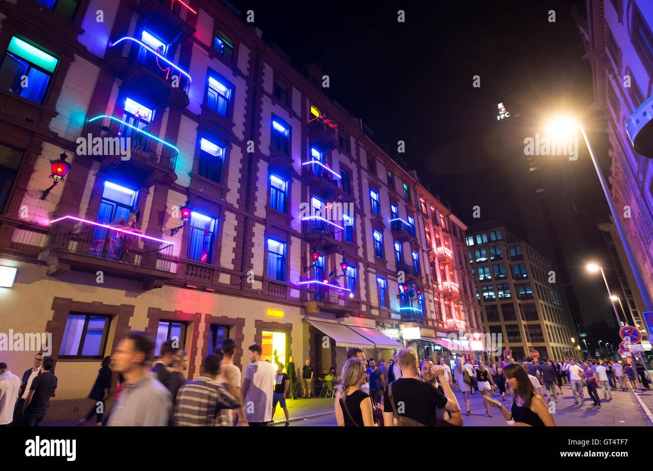 Brothels In Frankfurt Red Light Stockfotos und -bilder