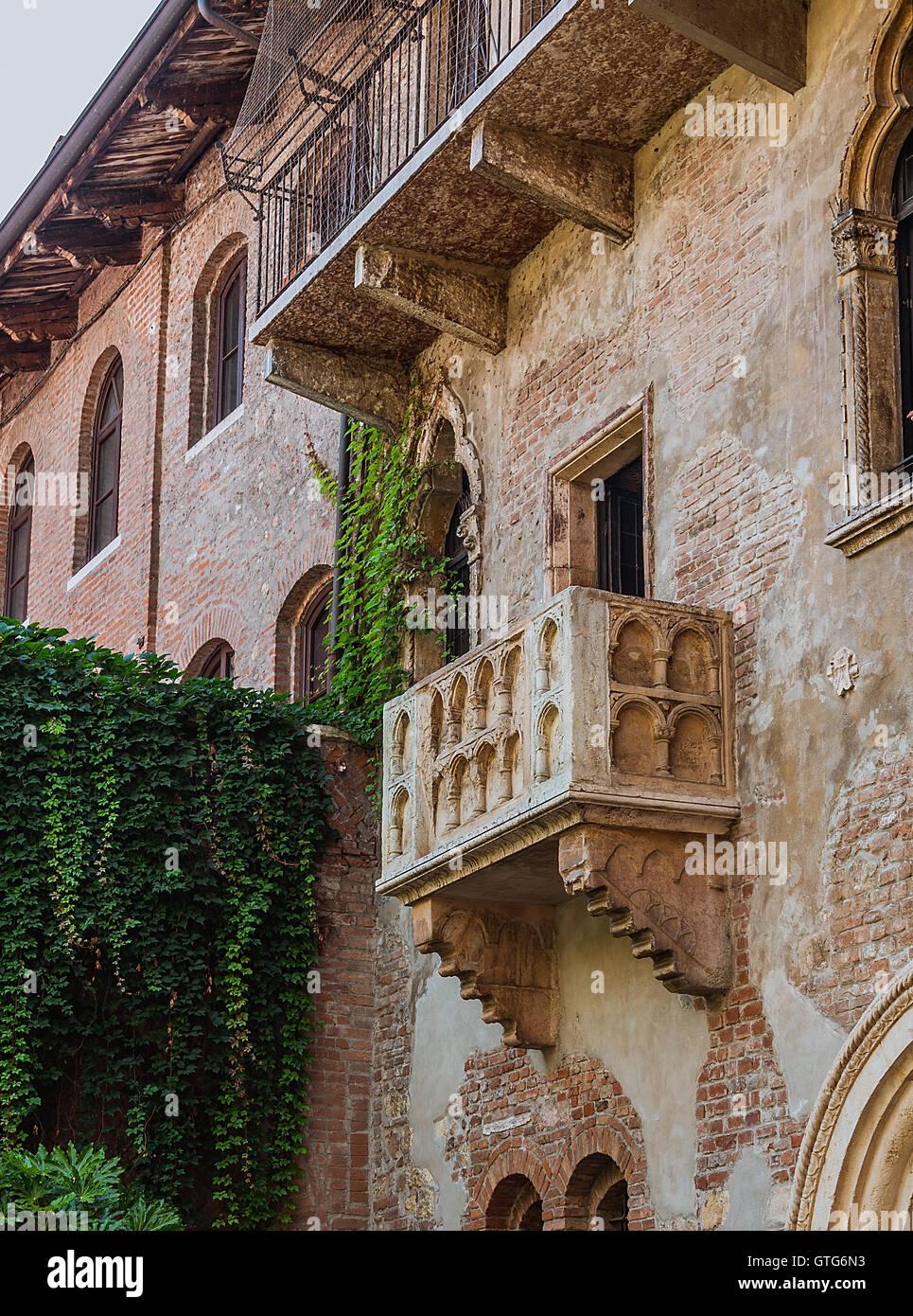 Terrasse Und Balkon Von Romeo Und Julia Haus Verona Italien
