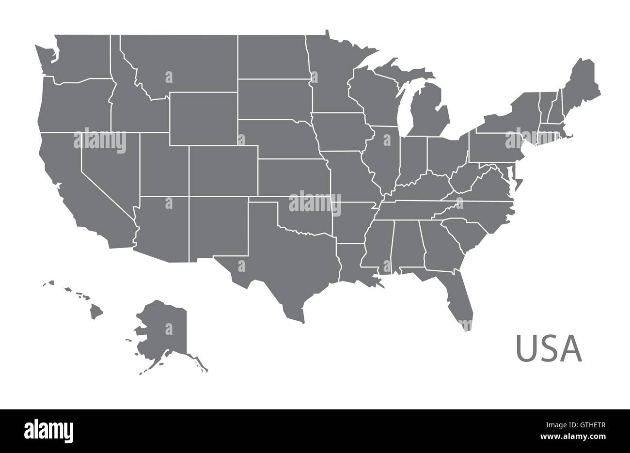 United States Map Vector Stockfotos & United States Map Vector ...