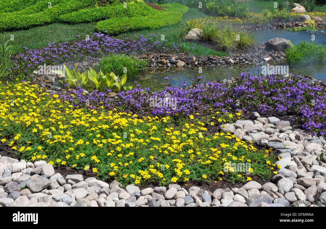 Landschaftsgestaltung Stockbild