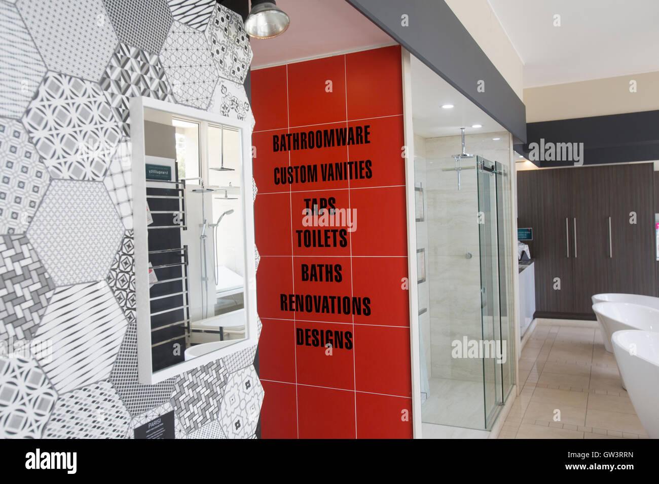 bad und sanitär-showroom in north sydney, australien stockfoto, Wohnzimmer dekoo