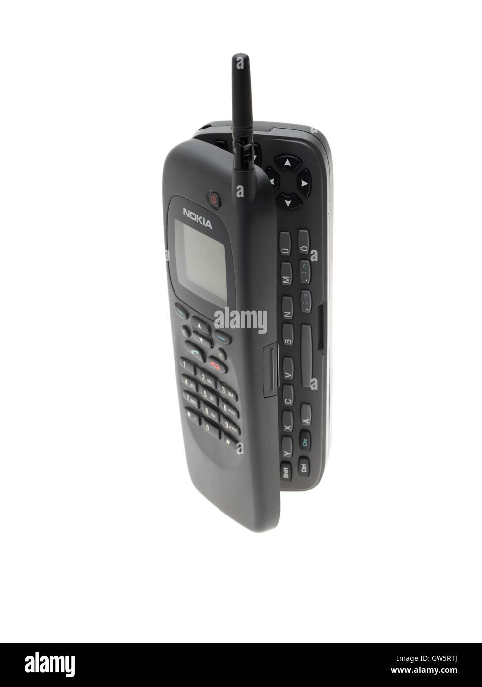 Nokia 9000 RAE-1N Communicator Phone aus Finnland 1996 eingeführt. erstes Smartphone auf dem Markt Stockbild