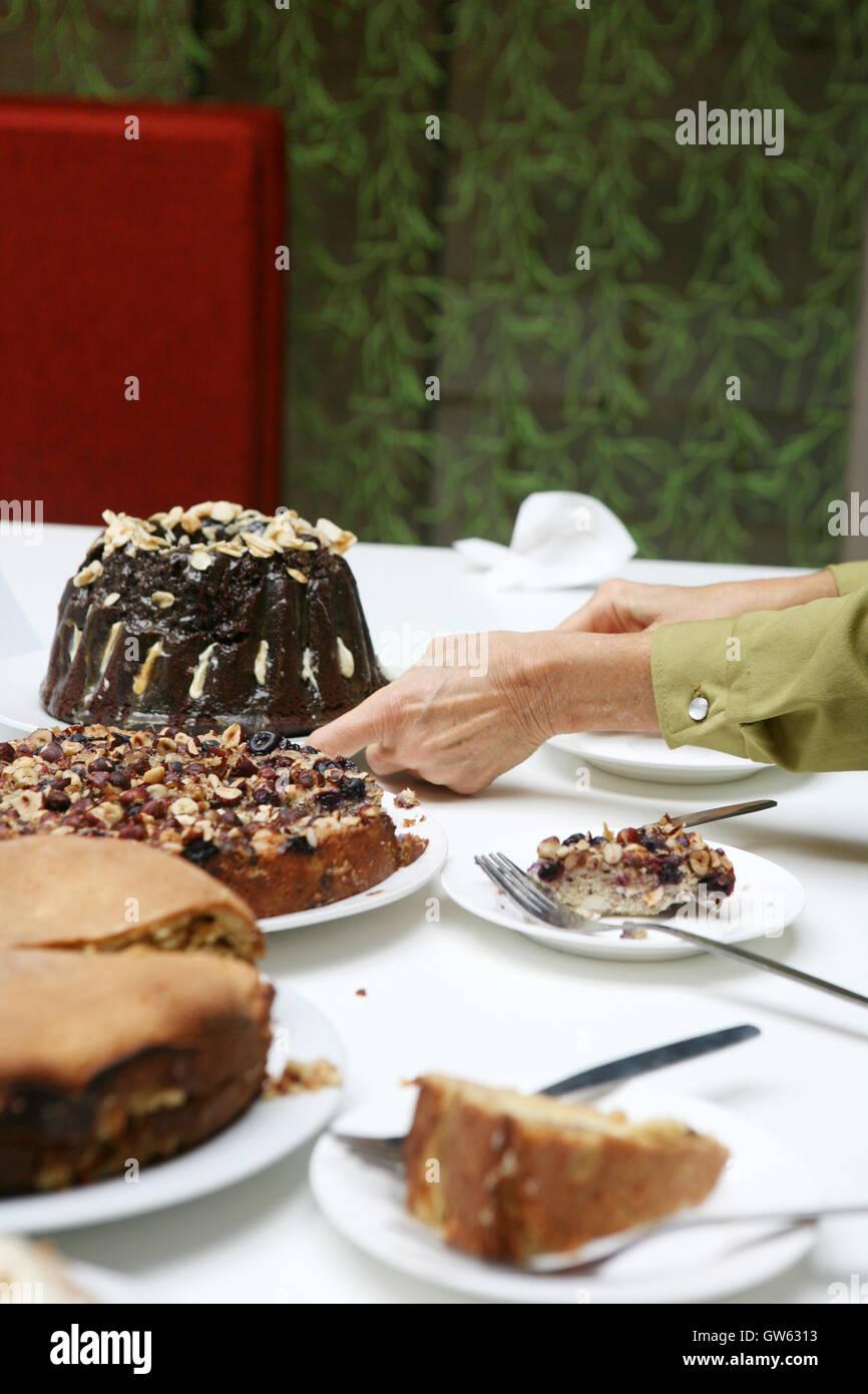 Buro Bake Off Hausgemachte Kuchen Stockfoto Bild 118762703 Alamy