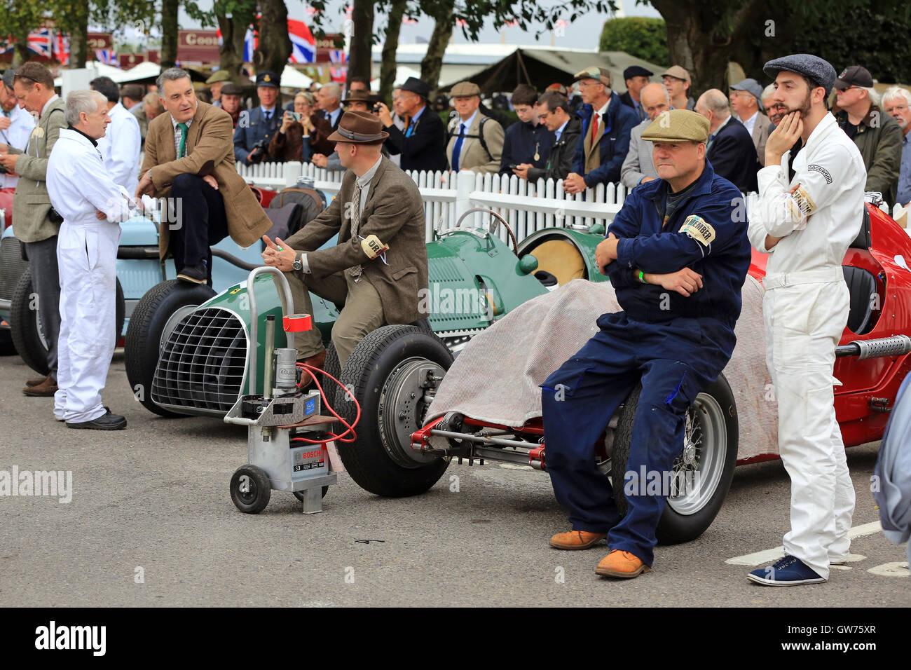 Das Goodwood Revival ist eine dreitägige Festival jedes Jahr im September im Goodwood Circuit seit 1998 für Stockbild