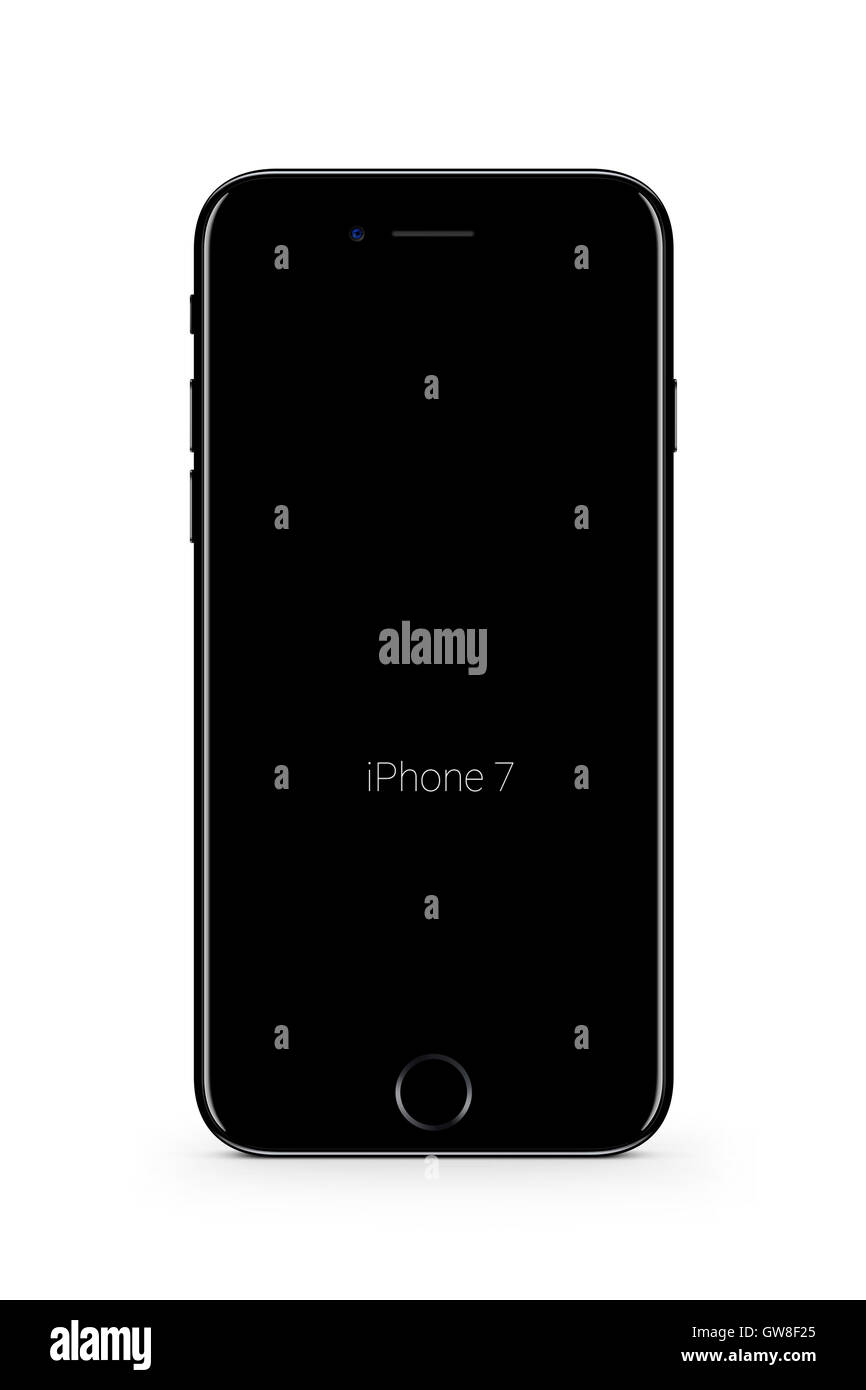 Smartphone Iphone 7, Digital generiert Kunstwerk. Stockbild