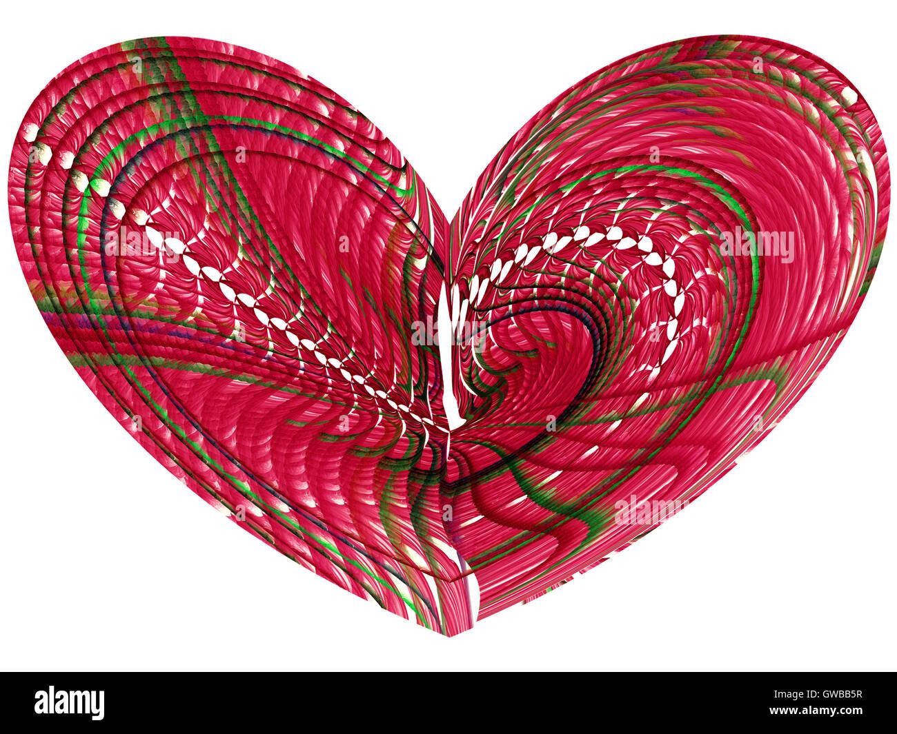 Abstrakte computergenerierte Bild Herzen Stockbild