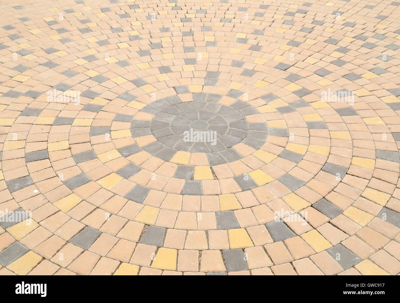 kreis-muster von stein pflaster stockfoto, bild: 118899123 - alamy