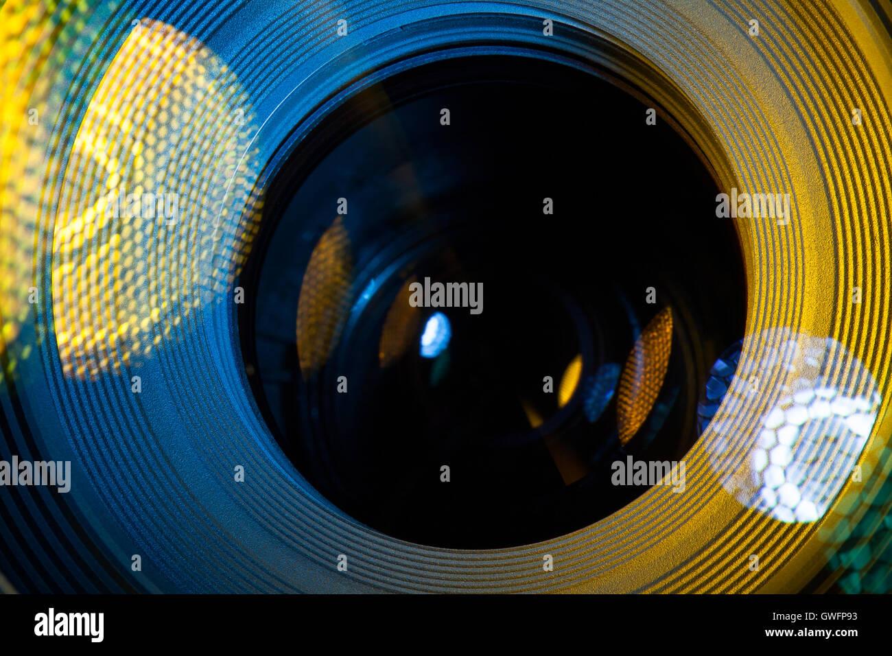 Objektiv Makro Nahaufnahme Stockbild