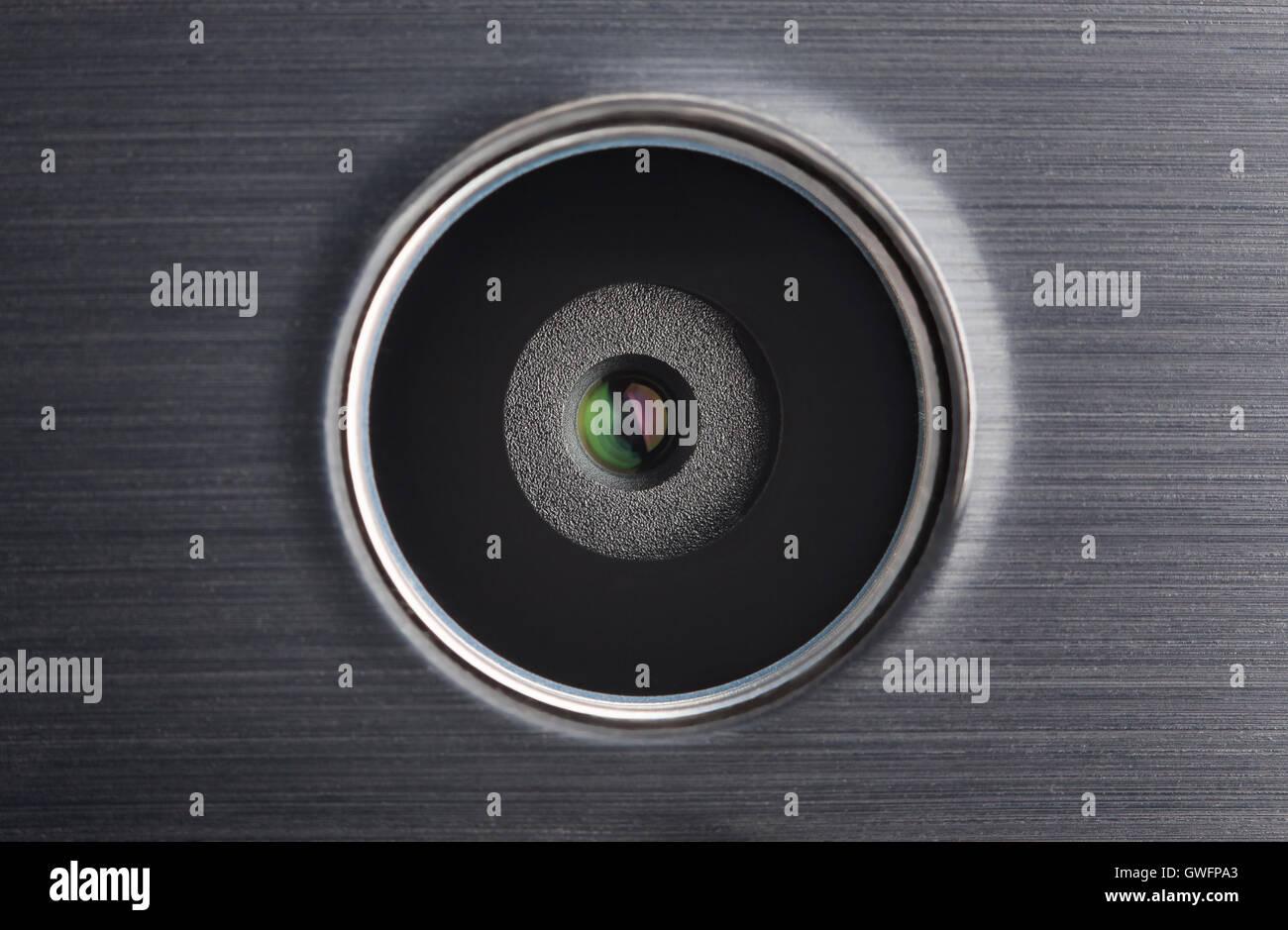 Mobile Kamera Objektiv Makro Nahaufnahme Stockbild