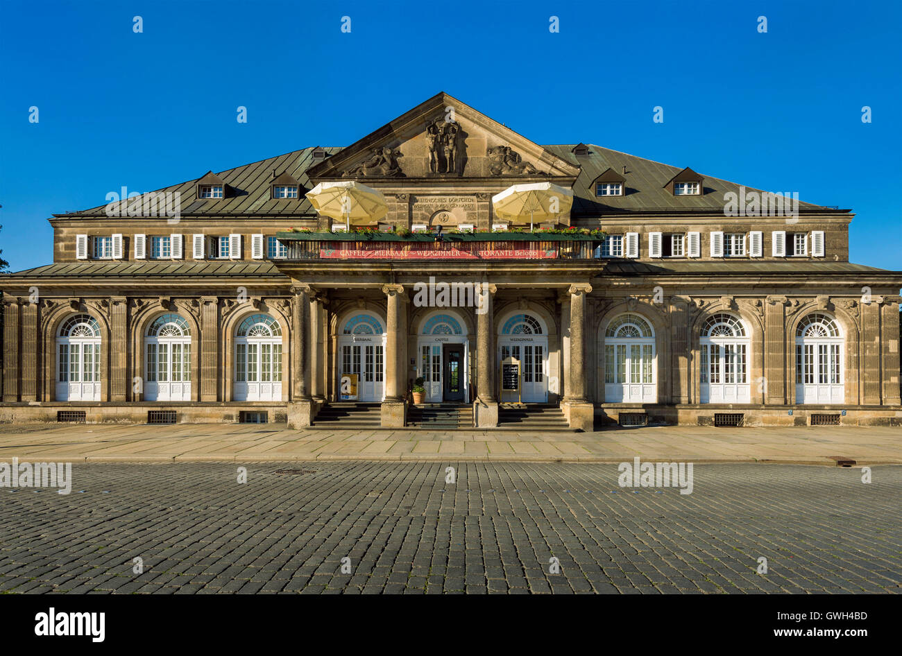 Dresden, Italienisches Doerfchen Auf Dem Theaterplatz Stockbild