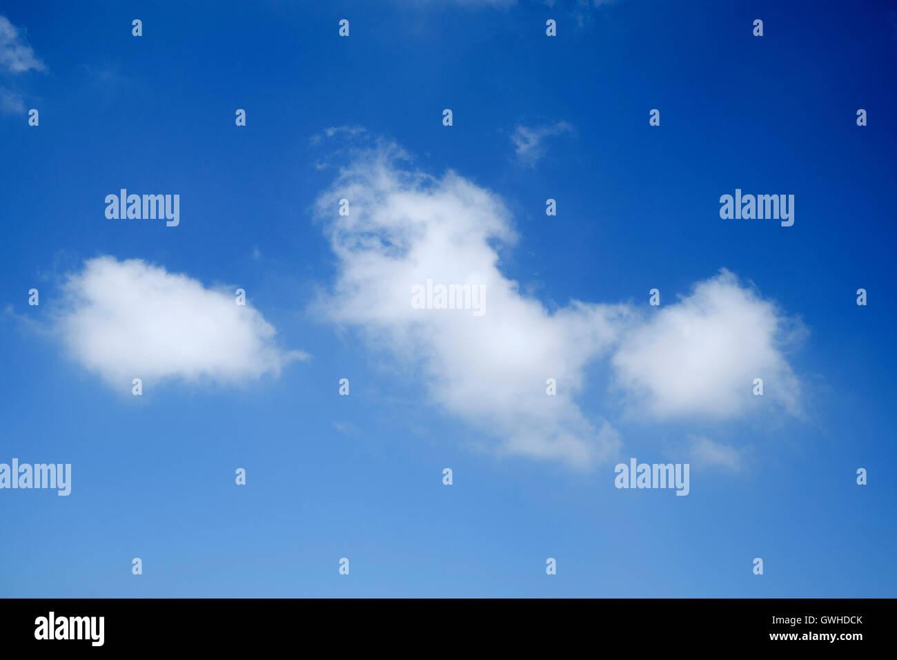 Blauer Himmel mit Cumulus Wolken nachschlagen Stockbild