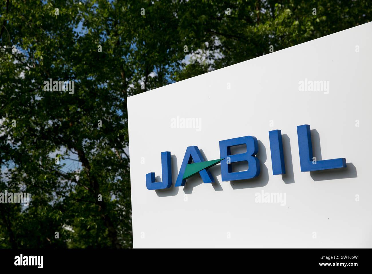 Ein Logo Zeichen außerhalb einer Einrichtung von Jabil Circuit, Inc. in Auburn Hills, Michigan am 17. Juli Stockbild