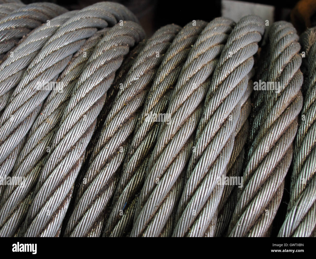 Rusty Iron Rope Coil Closeup Stockfotos & Rusty Iron Rope Coil ...