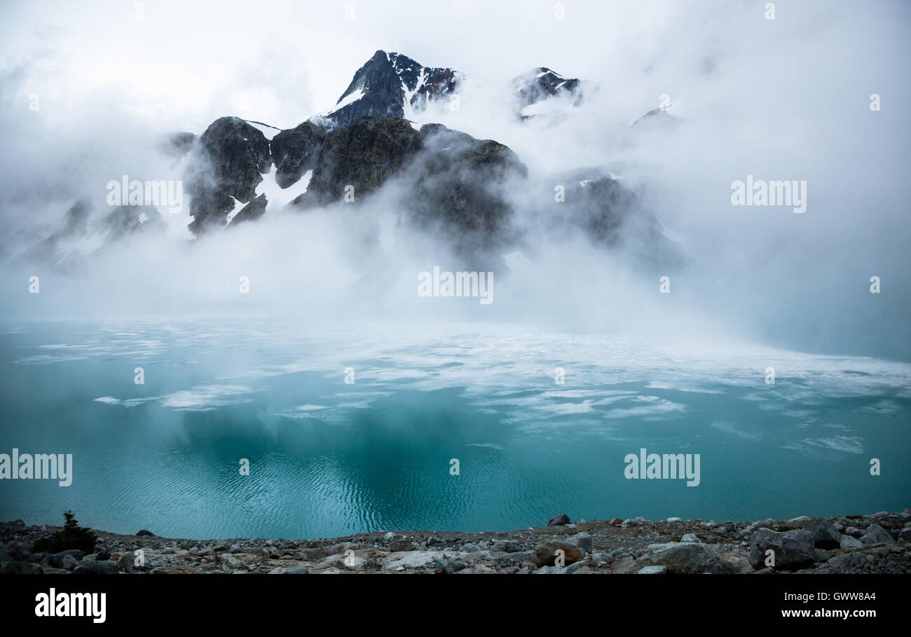 Wedgmemount Lake, Whistler, Britisch-Kolumbien, Kanada Stockbild