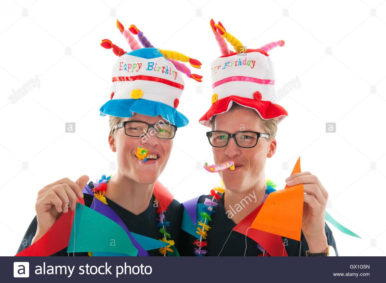 Erwachsene Mannliche Zwillinge Geburtstag Stockfoto Bild 119277921