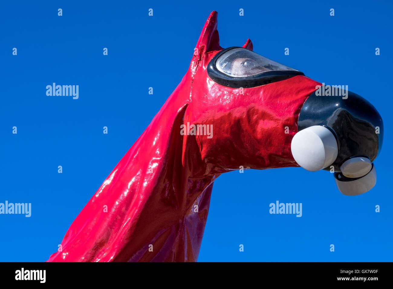 Kalten Krieges Horse Memorial Stockbild