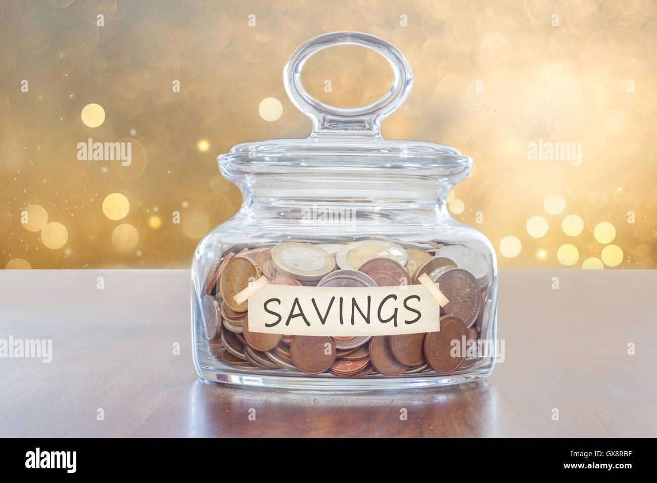 sparen für die Zukunft Stockbild