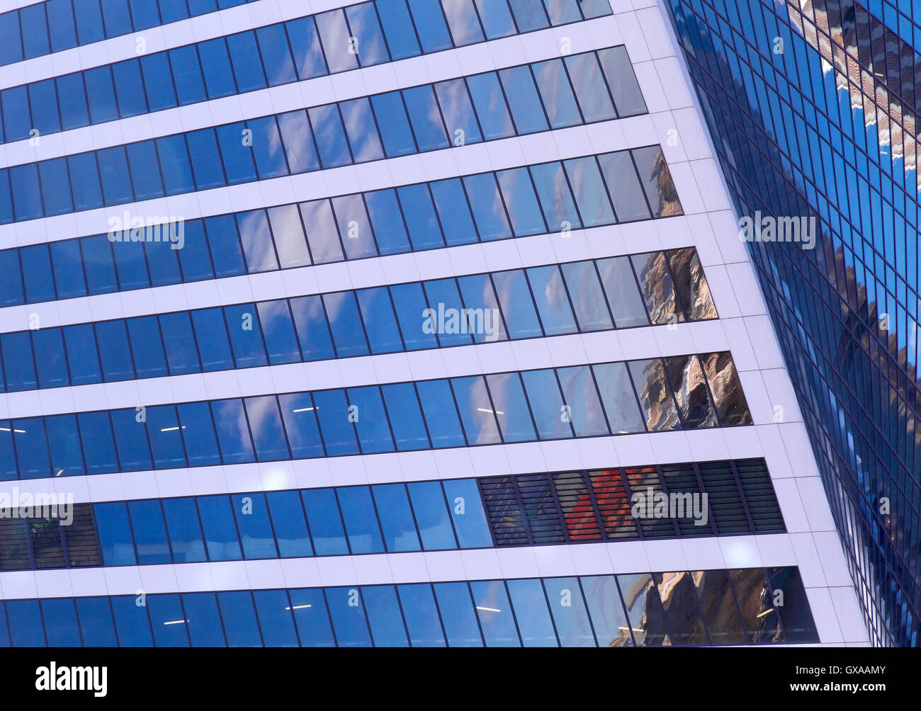 Abstract Architecture Contemporary Building Reflections Stockfotos ...