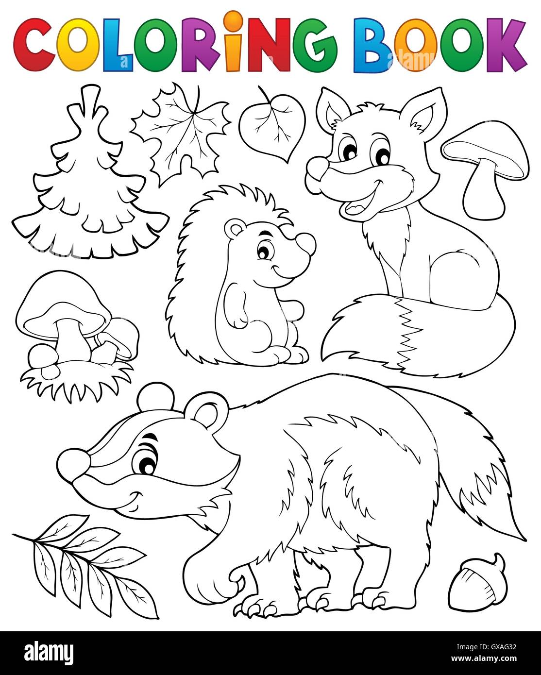 Malvorlagen Wald Wildtiere Buchthema 1 Bild Darstellung