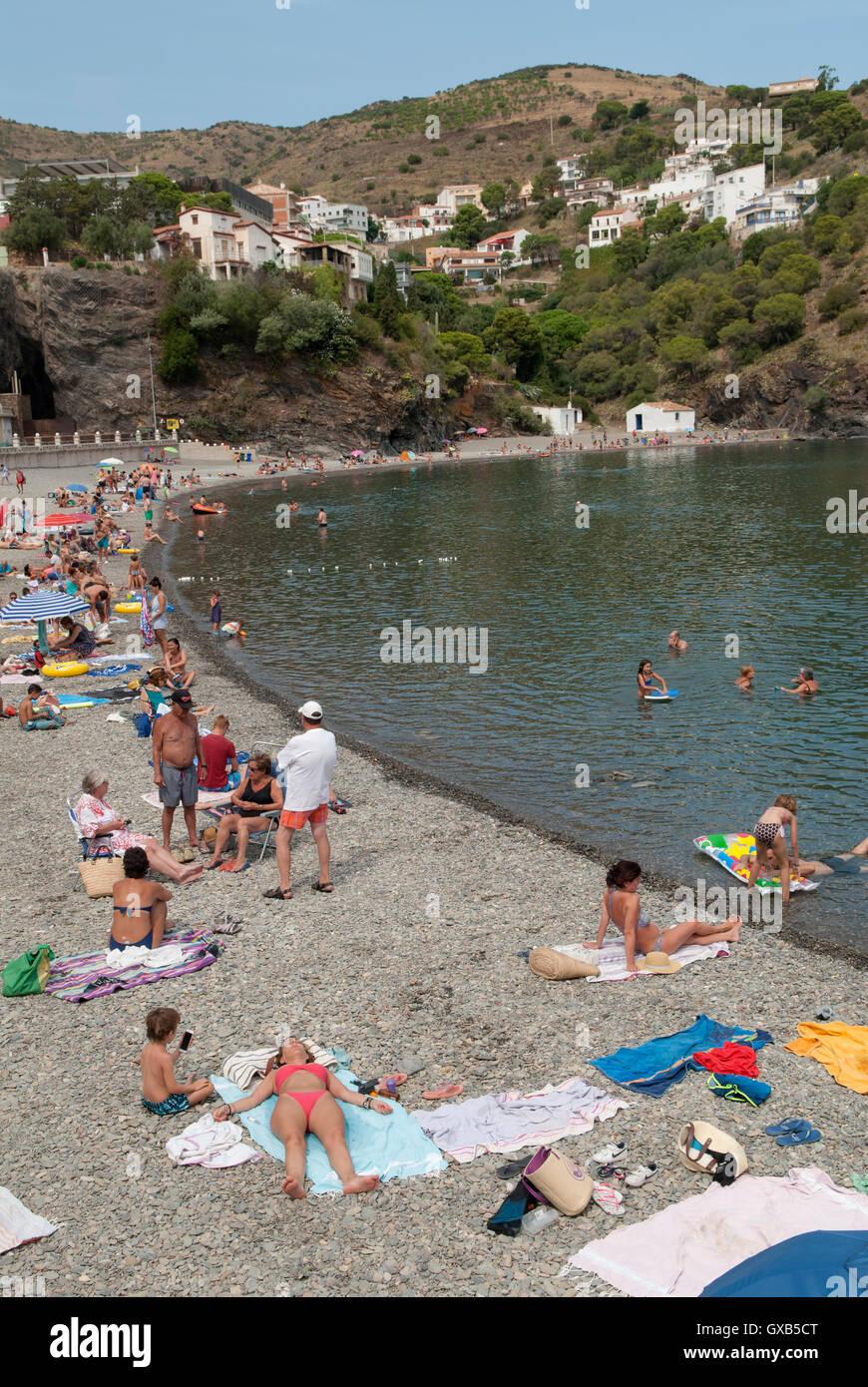 Portbou Provinz Girona, Katalonien, Spanien. HOMER SYKES Stockbild