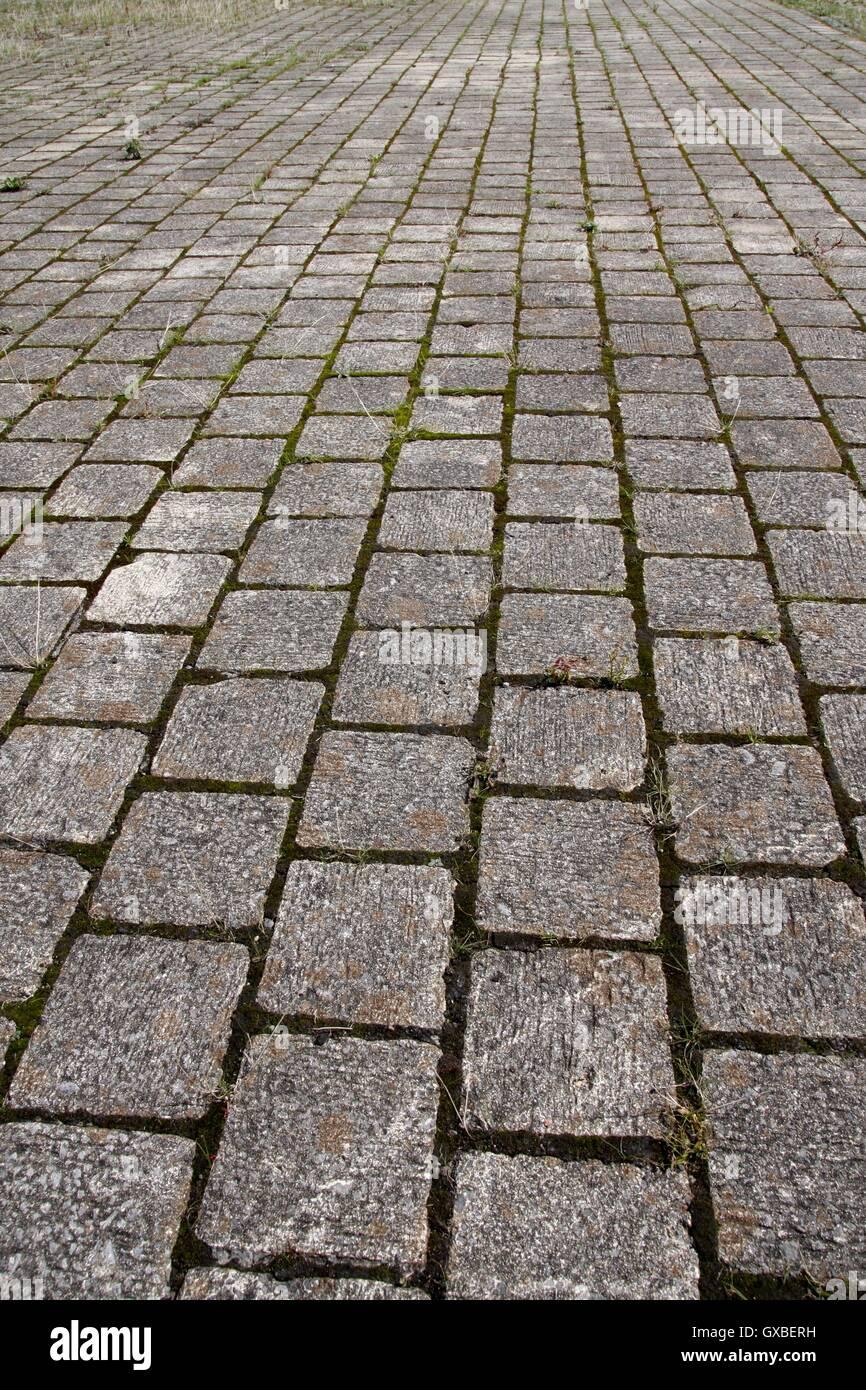 gepflasterten weg muster hintergrund konvergierenden perspektive stockbild - Fantastisch Pflaster Muster