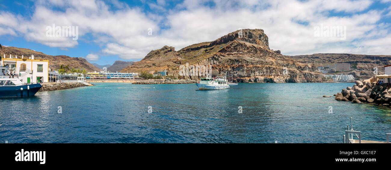 Küste von Puerto de Mogan. Gran Canaria, Kanarische Inseln Stockbild