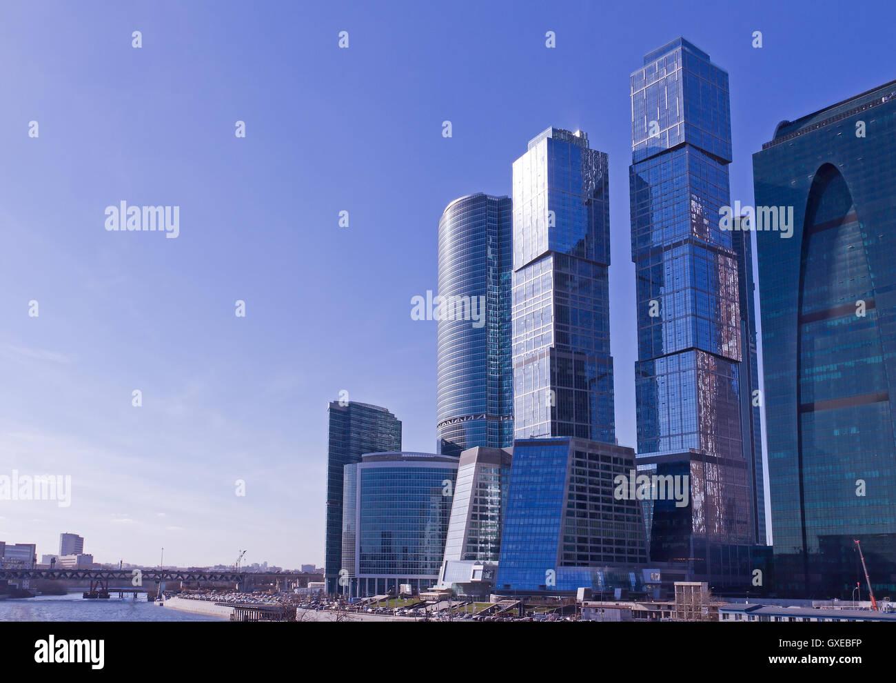 Zeitgenössische russische Architektur-Konzept: moderne ...