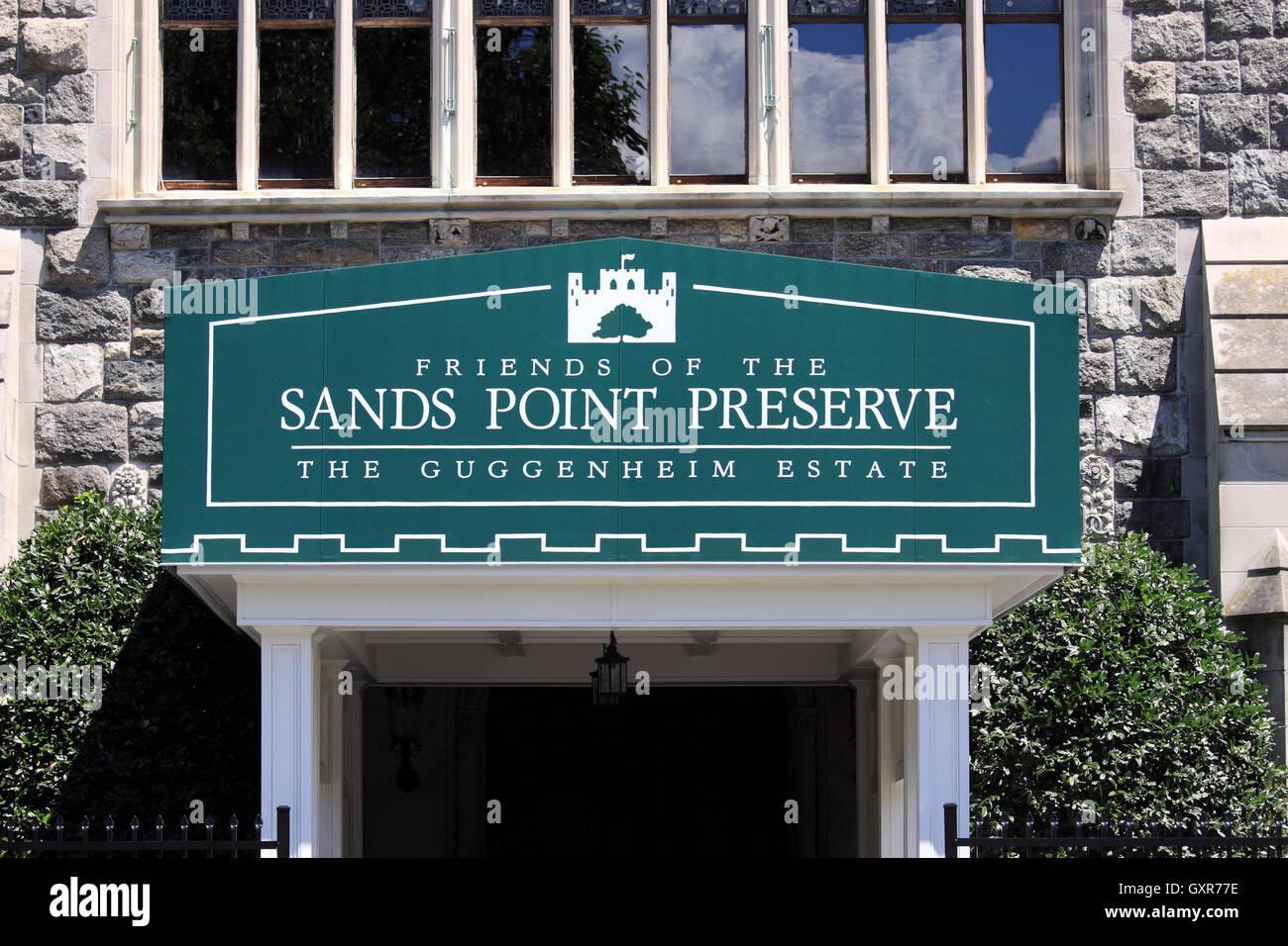 Eingang zum Hempstead House Schloss und Museum Sands Point erhalten Long Island New York Stockfoto