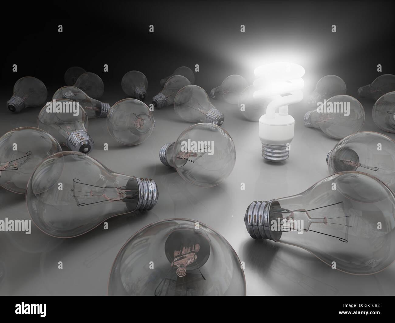 Glänzende Idee Stockbild