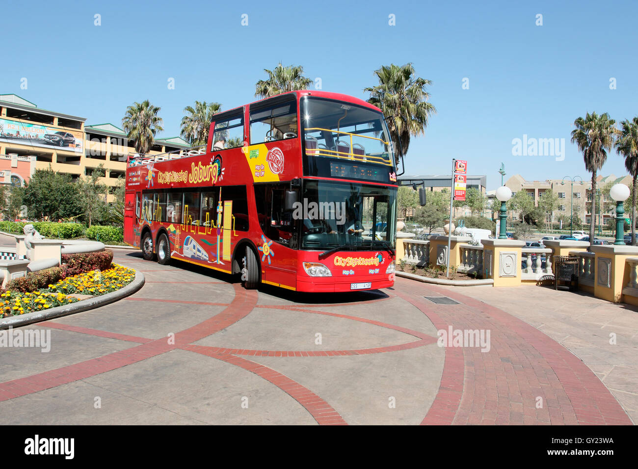 Sight seeing Touristenbus, Johannesburg, Südafrika, August 2016 Stockbild