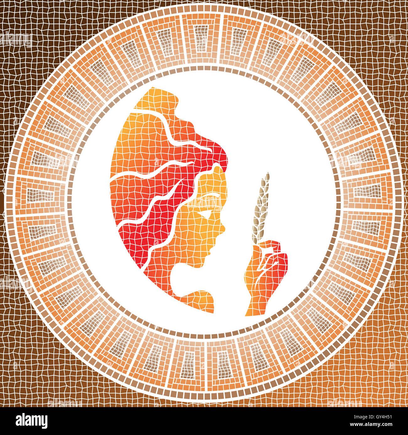 Cool Jungfrau Element Ideen Von Erde: Sternzeichen Auf Einem Mosaik