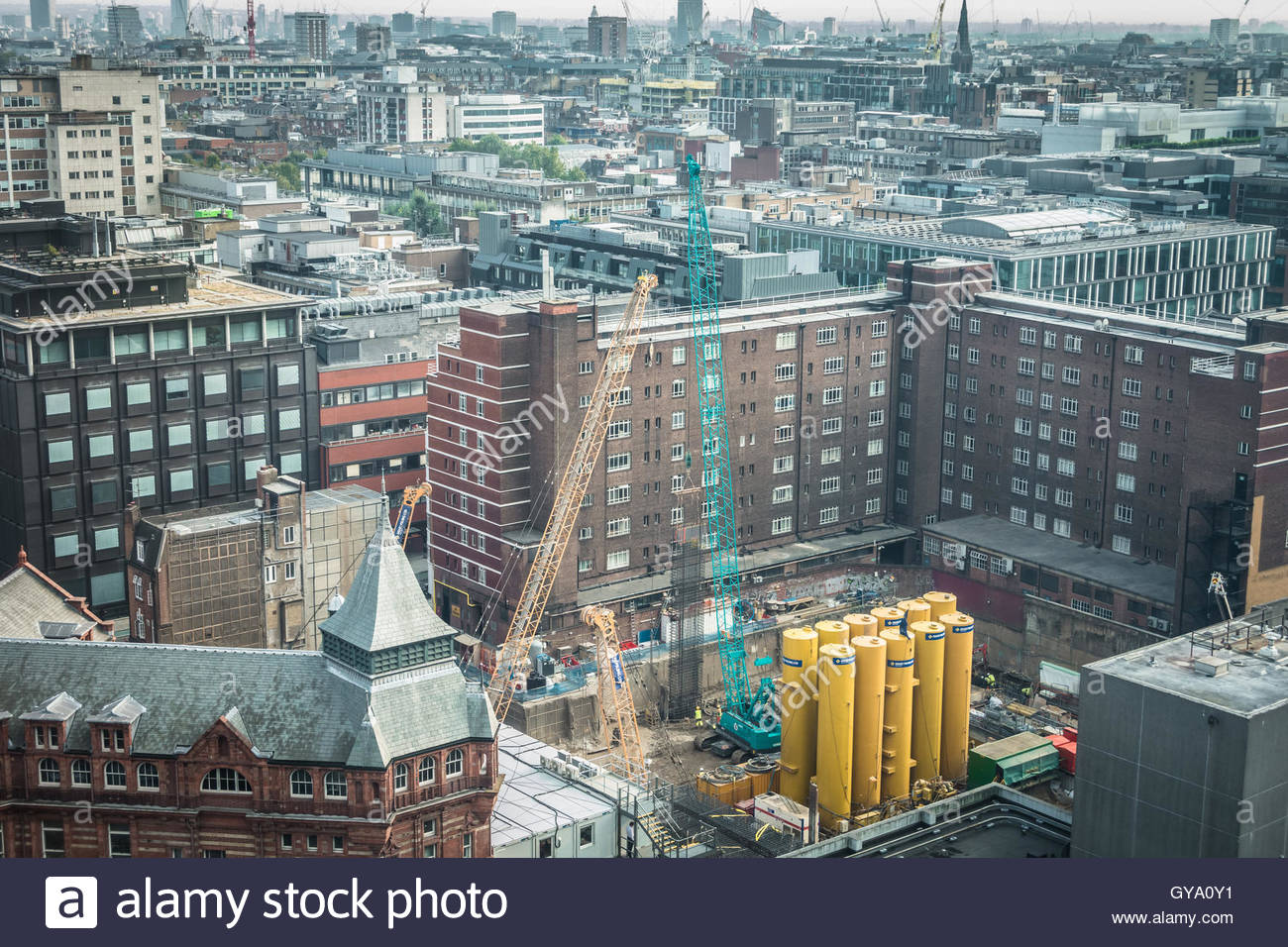 Bau des neuen Proton Strahl Therapiegerät am University College London Hospital (UCLH) Stockbild