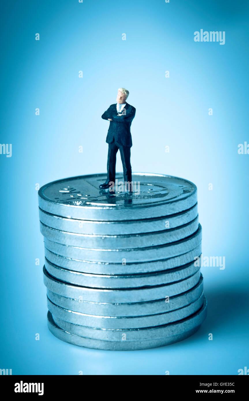 finanziellen Erfolgskonzept Stockbild