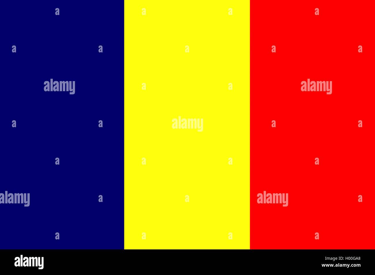 Flagge Tschad Tschad Stockfoto