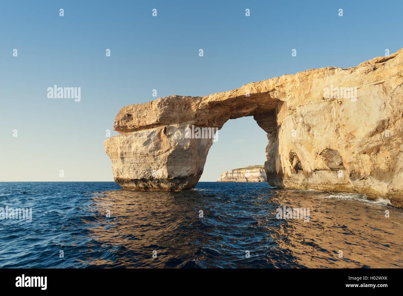 Azure Window, Kalkstein naturale auf Insel Gozo, Malta. Stockfoto