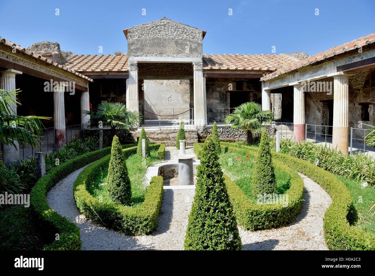 Haus der Venus, der antiken Stadt Pompeji, Kampanien, Italien Stockbild