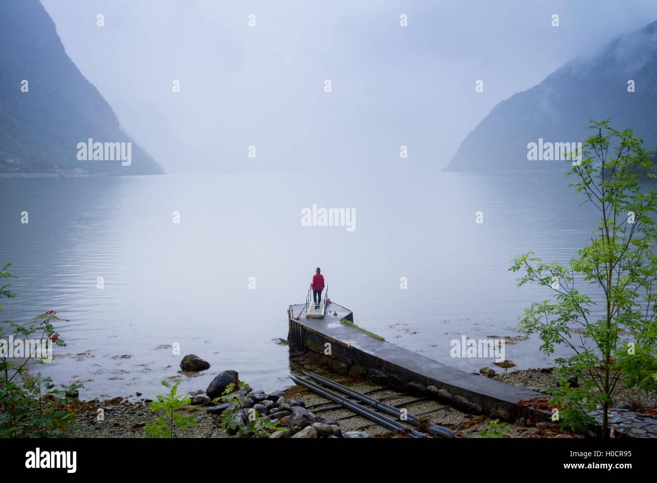 Hardanger Fjord, Norwegen. Stockbild