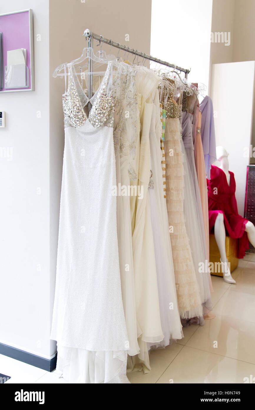 Wedding Dresses Hangers Stockfotos & Wedding Dresses Hangers Bilder ...