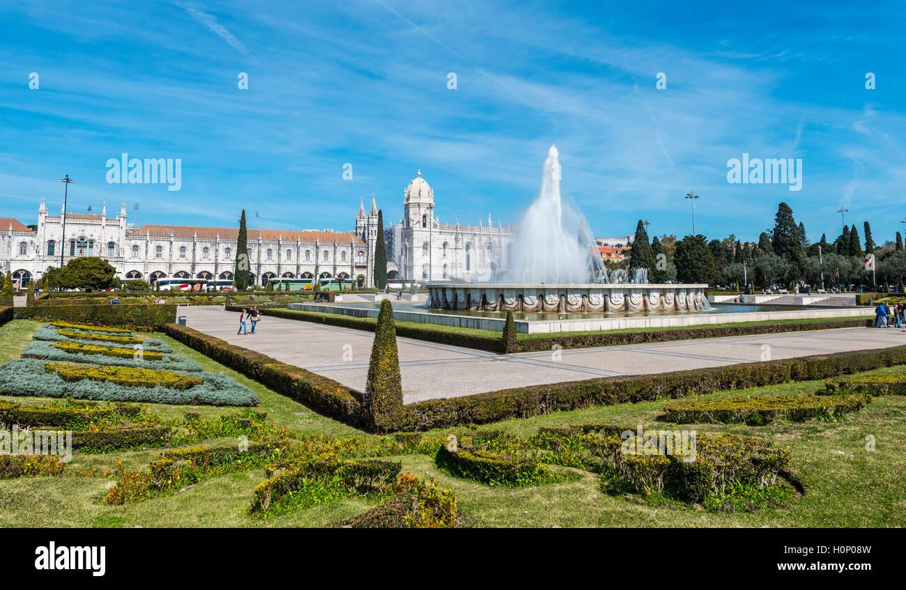 Mosteiro Dos Jerónimos, Jerónimos Kloster, Belém, Lissabon, Distrikt Lissabon, Portugal Stockbild