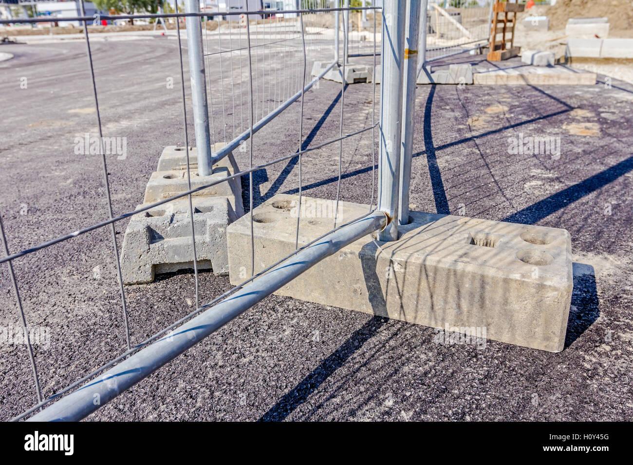 Mobile Stahl Zaun Als Barriere Restricted Area Fur Die