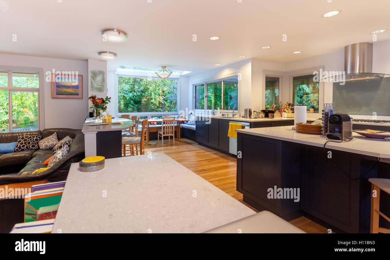 Küche renovieren fertig Stockbild