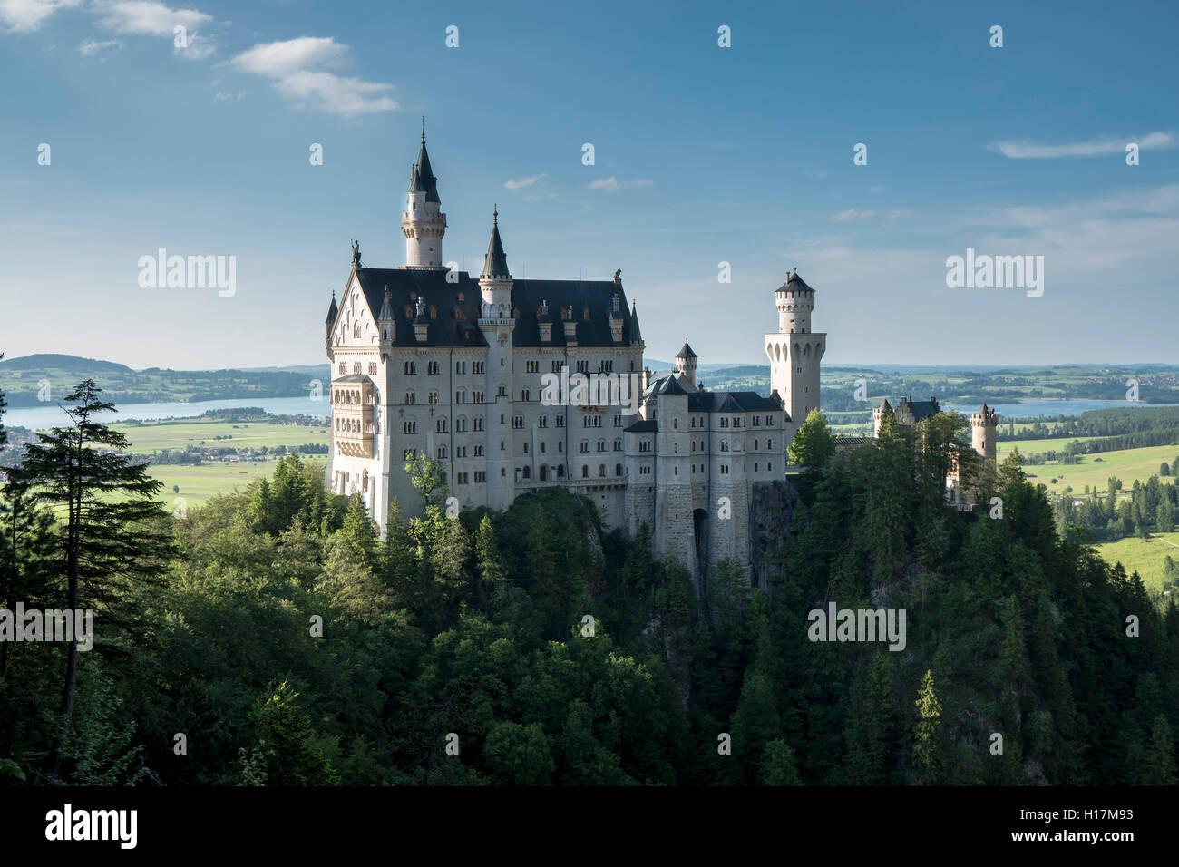 Schloss Neuschwanstein, Schwangau, Bayern, Deutschland Stockbild